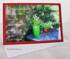 Grüße - Grußkarte Karte Grüße Freundschaft - ein Designerstück von Gabriele-Jentsch bei DaWanda