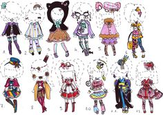 -CLOSED- OUTFIT ADOPTS for girls/trap boys by Guppie-Adopts on DeviantArt