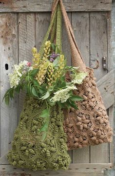 Crochet Inspiration: Hexagonal Motif | G-Ma Ellen's Hands – Adventures in Crochet and Knit. ☀CQ #crochet #bags #totes