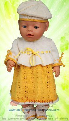 Doll robe tendance à tricoter