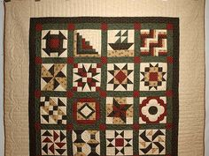 sampler quilts | Patchwork Sampler Quilt -- gorgeous cleverly made Amish Quilts from ...