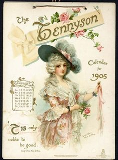 THE TENNYSON CALENDAR FOR 1905