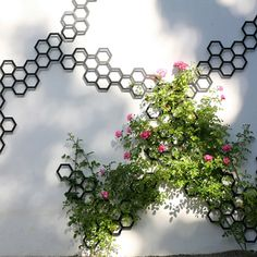 Metal Trellis: Comb-ination   Contemporary Garden Art Trellis
