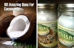 101 Amazing Uses For Coconut Oil ►►  http://www.herbs-info.com/blog/101-amazing-uses-for-coconut-oil/?i=p
