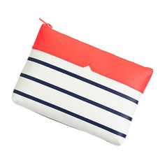 J.Crew #stripe leather #clutch: http://rstyle.me/n/idgrnr73w