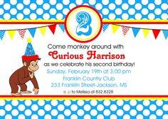 Curious George Invitations Printable