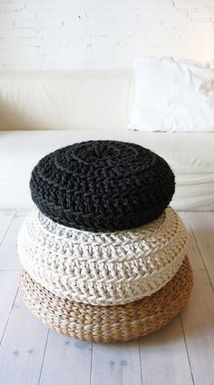 This cotton pouf makes for the perfect seated floor meditation