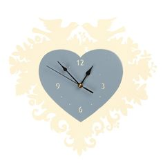 TINTOWN | Heart Clock in Blue and White - Homeware - 5rooms.com
