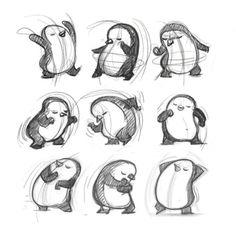 35 Ideas Baby Stuff Illustration Sketch For 2019 Pinguin Illustration, Illustration Sketches, Character Illustration, Drawing Sketches, Illustrations, Animal Sketches, Animal Drawings, Cartoon Drawings, Art Drawings