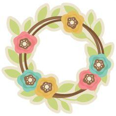 Spring Wreath SVG cutting file free svg cut files free svgs spring svg files for scrapbooks