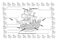 Fichas piratas Pirates, Index Cards, Blue Prints, Drawings, Christopher Columbus