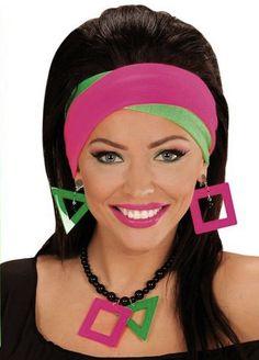 Neonväriset hiuspannat. Paketissa on kaksi hiuspantaa, punainen ja vihreä.