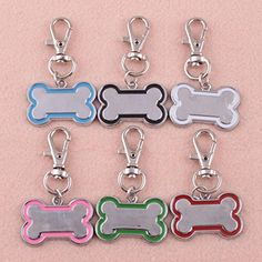 Bone Shaped Stainless Steel Metal Cute Pet Dog Cat ID TagMedium Name Tags -- For more information, visit image link.