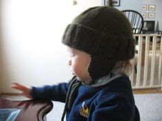 Creating a Family Home: Free Pattern: Toddler Earflap Hat