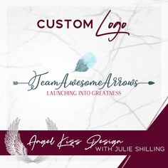 Custom Arrow Logos created for Team Awesome Arrows Arrow Logo, Angel Kisses, Watercolor Logo, Boho Designs, Marketing Materials, Business Logo, Custom Logos, Arrows, Team Logo