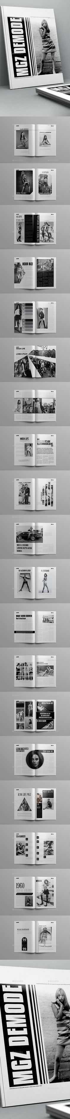 Demode Magazine Template 40 Pages InDesign INDD #design #journal Download: http://graphicriver.net/item/demode-magazine-template-40-pages/13202347?ref=ksioks