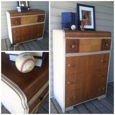 Antique waterfall dressers   Lee.Marie Antiqued Furniture on Facebook