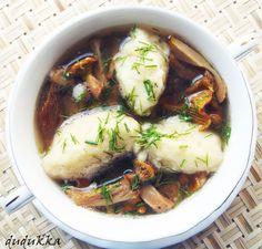 Суп с грибами и картофельными галушками