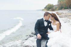 Crashing Waves on our Wedding Day