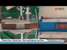 Cereal bar flow packing machine, rice bar flow packing machine, peanut b.