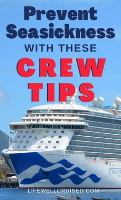 Worried about seasickness on your next cruise? There's nothing better than getting tips from the crew - especially when it comes to preventing motion sickness. Here are 10 effective remedies for seasickness on a cruise. #cruise #cruisetips #cruisehacks #cruises #cruising Cruise Excursions, Cruise Destinations, Cruise Port, Cruise Travel, Cruise Vacation, Alaska Cruise Tips, Packing List For Cruise, Cruise Ship Reviews, Best Cruise Ships