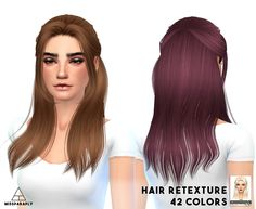 Hair retexture / Alesso Nana / 42 colors