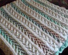 Arrow Stitch Crochet Afghan - Free Pattern
