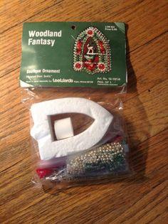 Vintage Woodland Fantasy Ornament Deer inside openbead kit NEW Lee Wards
