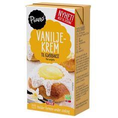 Vaniljeruter - Oppskrift fra TINE Kjøkken Piano, Oatmeal, Protein, Dairy, Cheese, Breakfast, Label, Packaging, Food