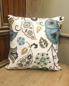 Floral Pillow Cover, Floral Throw Pillows, Contemporary Pillows, Home Decor, Modern Decor Contemporary Pillow Covers, Modern Pillow Covers, Blue Pillow Covers, Decorative Pillow Covers, Buy Pillows, Sofa Pillows, Couch, Floral Throws, Floral Throw Pillows