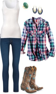Cowgirl Outfit #2 by maria-garza on Polyvore outfits-i-heart