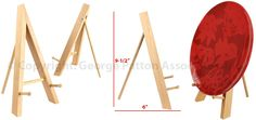 Wood+Table+Top+Easel,+Standard+Tripod+Design,+5.25+x+9.375+-+Natural