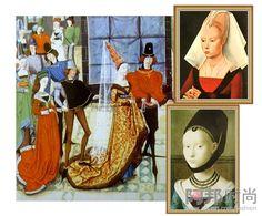 Stile Gotico, appellativo che per gli uomini del Rinascimento significava barbarico in quanto le opere d'arte non seguivano le regole auree della prospettiva e la natura era rappresentata solo in forma molto stilizzata,fu applicato con senso dispregiativo all'arte del periodo fra il romanico e il Rinascimento e anche all'abbigliamento.