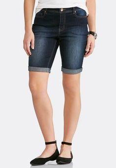 Cato Fashions Dark Denim Shorts #CatoFashions