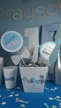Little man centerpiece little man baby shower by lifeisforthefun