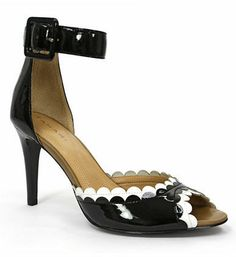 Tahari Jules Patent Leather Scalloped Colorblock Sandals on shopstyle.com