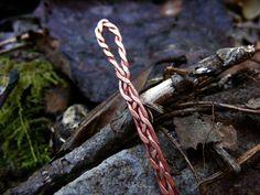 Woven Copper Needle. $10.00, via Etsy.