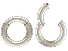 10PCS Argent Beads Jewelry Making Findings lisse Pinch Bail Boucle d/'oreille Crochet Fil