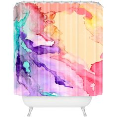 Watercolor Shower Curtain: This is awesome! I bet my sister would love this!
