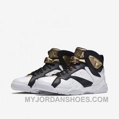 online retailer af3c2 c7fa2 Authentic 725093-140 Air Jordan 7 Retro C amp C White Metallic Gold-
