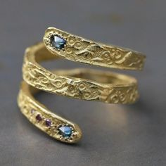 Original ring yellow diamond snake and Esther for jewelry Designers Workshop