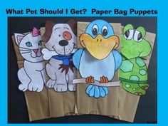 This is a really fun craft to use with the new Dr. Seuss book, What Pet Should I Get?What is included:- 4 pets (cat, dog, turtle ... and my favorite ... the bird)- a simple writing activity has been prepared which can be placed on the back of each pet (grade 1 or 2 or 3)  JK and K can just make the paper bag puppets and not do the writing activities.Have created these so that either the eyes, a bone, a chin or a beak will hang over the base of the bag.- please look at the preview What you…