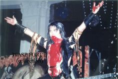 Red Blood Gives You Wings!  ;) Blackie Lawless of W.A.S.P. Animal era #BlackieLawless #wasp