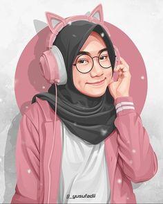 Manga Illustration, Portrait Illustration, Character Illustration, Illustrations, Girl Cartoon, Cute Cartoon, Caricature, Arabic Characters, Portrait Vector