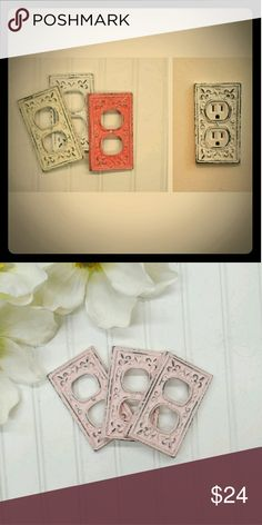 #Shabby #Chic plug outlet covers So pretty and stylish. Looks great with ant decor!    Free gift with any purchase over $10 and all bundles!   #pink #victoriassecret #home #decoration #vintage shabby chic Other