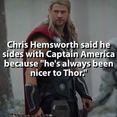 Welp. Looks like Thor is Team Cap