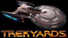 Trekyards EP346 - Daystrom Class Miracle Worker Cruiser (STO) Star Trek Online, Starfleet Ships, Star Trek Starships, Star Trek Ships, Star Citizen, Si Fi, Spaceships, Spacecraft, Weapons