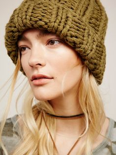 Knitting Patterns Beanie Back to Basics Chunky Knit Beanie from Free People! Winter Knit Hats, Winter Hats For Women, Free People, Love Hat, Hats For Sale, Knitted Bags, Winter Accessories, Knit Beanie, Pure Products