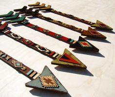 Southwest Wooden Arrow Vintage Looking Arrow by TheGlitteredPig