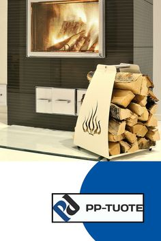 PP-TUOTE from Finland – 'Liekki' Aluminium Firewood Rack with Cut-out Flames Design, White Firewood Rack, Log Holder, Flame Design, Aluminium, Finland, Minimalism, Flooring, Easy, Weather Vanes